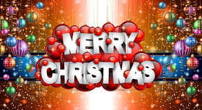 Merry Christmas Background for your seasonal invitations Stock Photo
