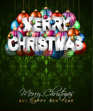 Merry Christmas Background for your seasonal invitations Royalty Free Stock Photo