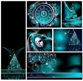 Merry Christmas backgrounds collection Stock Photos