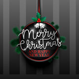 Merry christmas badge-01 Royalty Free Stock Photo