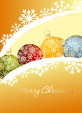Merry Christmas ball Royalty Free Stock Photo