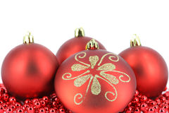 Merry christmas ball decoration Stock Photos