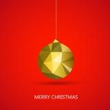 Merry christmas ball Stock Image