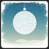 Merry Christmas Ball Greeting Retro Card. Vector. Illustration Stock Photography