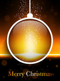Merry Christmas Ball Laser Neon Royalty Free Stock Photography