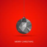 Merry christmas ball. Set easy editable Stock Photography