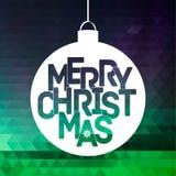 Merry Christmas ball typography illustration Royalty Free Illustration