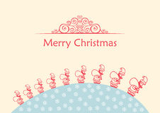 Merry christmas ball. Vector background doodle Royalty Free Stock Photo