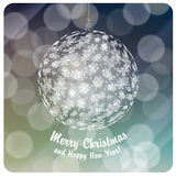 Merry Christmas ball vector illustration Stock Photography