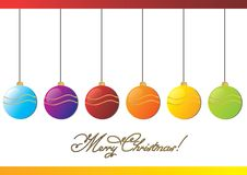 Merry Christmas balls Stock Photo
