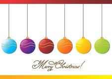 Merry Christmas balls Stock Photo