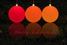 Merry Christmas Balls Royalty Free Stock Photos