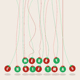 Merry Christmas balls background Royalty Free Stock Photos