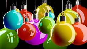Merry Christmas balls Royalty Free Stock Image