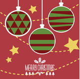 Merry Christmas Balls. For Christmas cerebration Royalty Free Stock Photography