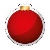 Merry christmas balls decorative card Royalty Free Stock Image