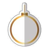 Merry christmas balls decorative card Stock Photography