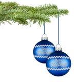 Merry christmas balls stock photos