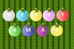 Merry Christmas balls Royalty Free Stock Images