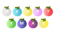 Merry Christmas balls Royalty Free Stock Photography