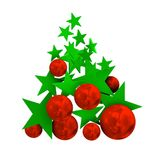 Merry christmas with balls and stars Stock Image