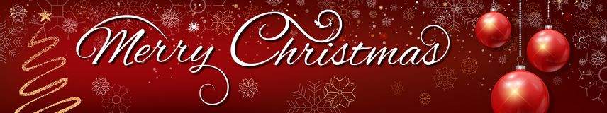 Free Merry Christmas Banner Stock Photography - 164681612