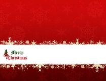 Merry Christmas banner. Christmas red and green traditional colors background vector illustration