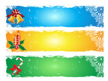 Merry christmas banner. 3 different color of merry christmas banner Royalty Free Stock Photos