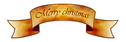 Merry Christmas Banner Stock Images