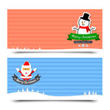 042-Merry Christmas banner background vector illustration Colle. Merry Christmas banner background vector illustration Collection for greeting card vector illustration