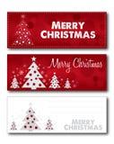 Merry Christmas banner card illustration design vector Stock Photos