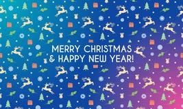 Merry christmas banner vector illustration