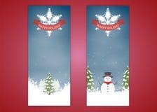Merry Christmas, banner design vertical background set, vector illustration vector illustration