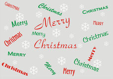 Merry Christmas Banner Royalty Free Stock Photo