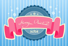 Merry Christmas Banner Greeting Card and Happy New Royalty Free Stock Image