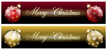 Merry christmas banner isolated Royalty Free Stock Photos