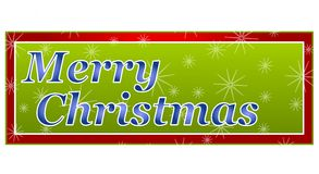 Merry Christmas Banner or Logo Royalty Free Stock Photo
