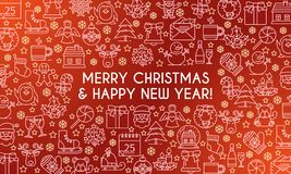 Merry christmas banner 02 vector illustration
