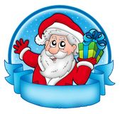 Merry Christmas banner with Santa Royalty Free Stock Photography