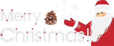 Merry Christmas. Banner with Santa Royalty Free Stock Image