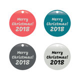 Merry Christmas banner set. In vintage style Royalty Free Stock Images