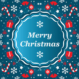 Merry Christmas banner with snowflakes Royalty Free Stock Image