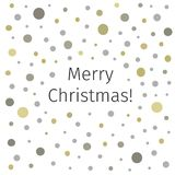Merry Christmas banner on spotted background. Greeting card design template. Holidays brochure or flyer Royalty Free Stock Photography