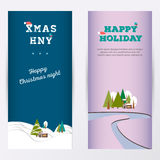 Merry Christmas banner vertical background, vector illustration. Stock Photos