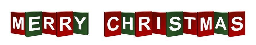 Merry Christmas. Banner on white background stock illustration