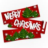 Merry Christmas Banners Stock Photos