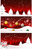 Merry christmas banners, cards. Red christmas banners, cards, merry christmas, new year royalty free illustration