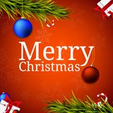 Merry Christmas banners, design for greetings card in colorful. Vector Stock Photography