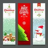 Merry Christmas, banners design vertical collections Royalty Free Stock Photography