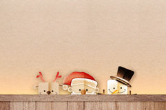 Merry Christmas banners with gift star Santa claus Stock Image